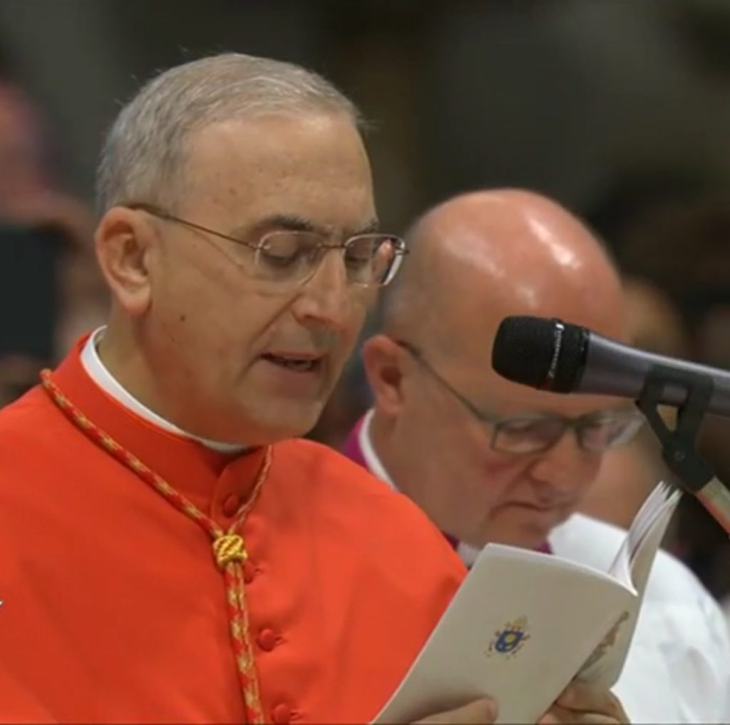 Lettera dal Cardinale Mario Zenari